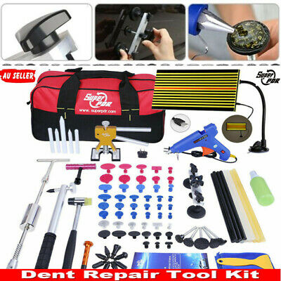 Paintless Hail Removal Dent Lifter Puller PDR Tool Car LED Line Board Repair Kit