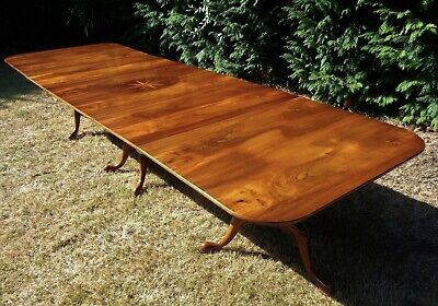 A VERY LARGE 12ft 8` EXTENDING ARTHUR BRETT DINING TABLE / ANTIQUE STYLE
