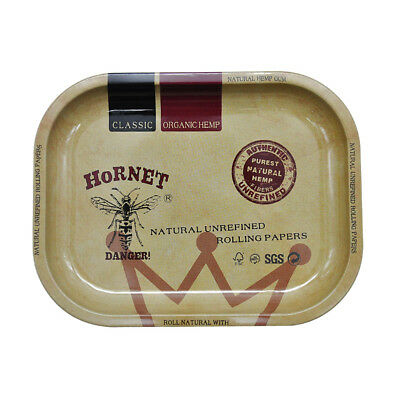 HORNET 1 X Metal Hand Roller Rolling Trays 17cm*14cm Tobacco Smoke Accessories