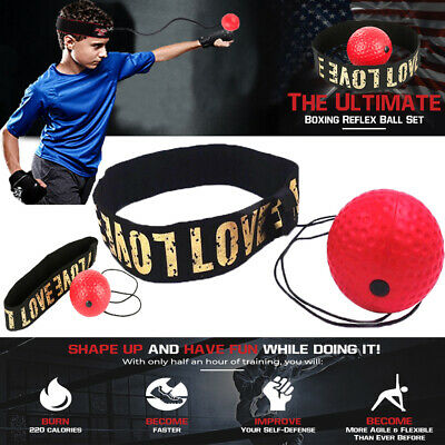Fight Ball Reflex Boxing REACT Training Boxer Speed Punch Head Cap String BaLO