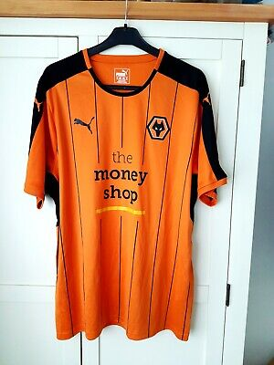 Wolves Home Shirt 2016. XL. Puma. Orange Adults Football Top Only Short Sleeves.