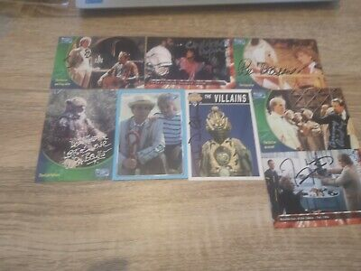 Signed Dr Who Trading Cards 80s Era