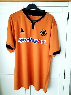 Wolves Home Shirt 2009. XXL. LQS. Orange Adults Football Top Only Short Sleeves.