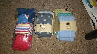 Girls BNWT Tights Age 3-4 Years Rainbow Red Sparkles NEXT & Marks And Spencers