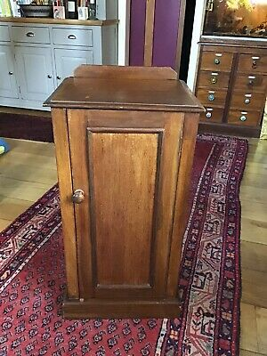 Antique Vintage Victorian Mahogany Pot Cupboard Night Stand Bedside Cabinet