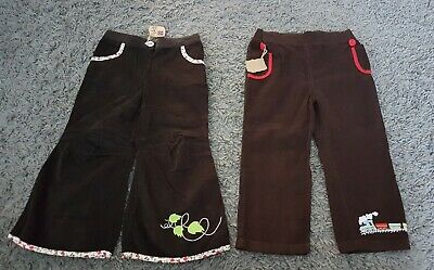 Girls/Boys soft Cord Flaired/Hippy/Bohemian trousers X 2 NEW 2-3 yrs