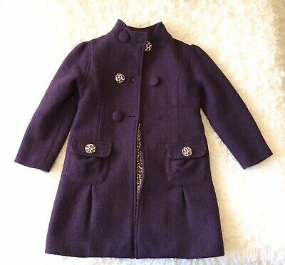 John Lewis Girls Purple Coat Age 6 Years