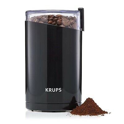 Krups Coffee Beans Grinder Spice Nuts Herbs Seeds Chopper 200W F20342 BLACK, New