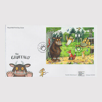 2019 The Gruffalo Miniature Sheet First Day Cover (FDC) - Queenbury Postmark