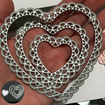 Heart Cuts DIY Metal Stamps Craft Dies Stencil Lace Embossing Die Cutting Cards