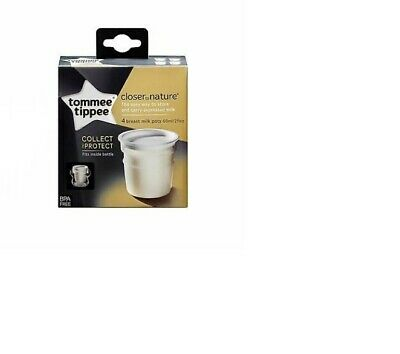 Tommee Tippee Close To Nature Breast Milk Pots x4 Brand New