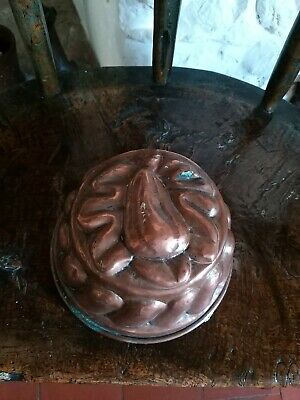 A Lovely Antique Copper Jelly Mould Pear Decoration 19th Century