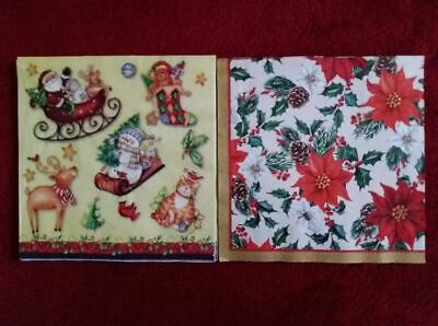 10 x lunch napkins in two designs. Ideal for decoupage or for a party