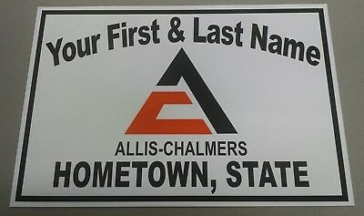 Personalized Allis-Chalmers (Big A) Tractor Aluminum Name Sign