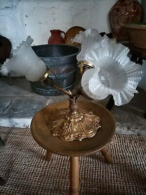 A Superb Quality Brass And Glass Light Fitting Chandrlier 1930s