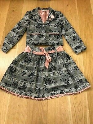 Stunning Sarah Louise jacket and skirt, aged 8, lined