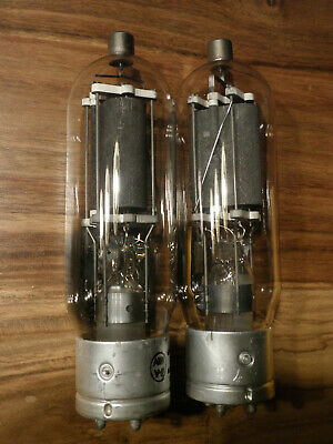 Pair of transmitting tube type 805. Made by AWA in Australia (RCA)