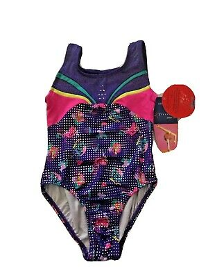 NWT Danskin Freestyle Girls Size XS (4/5) Multi-Color Leotard