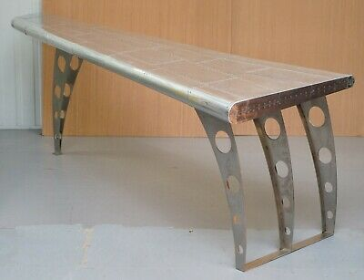 1 Of 2 Stunning Aluminium Aeroplane Wing Desks Or Writing Tables Large Sized