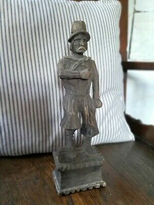 A Great 13 Inch Carved Pine Black Forest Figure 19th Century