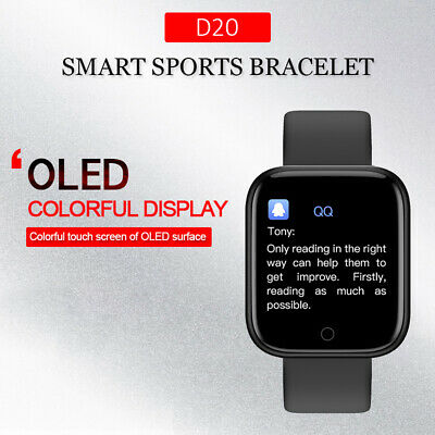 D20 Smartband Watch Heart Rate Blood Pressure Monitor Sports Pedometer Bracelet