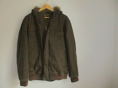 Timberland Mens MEDIUM green hooded winter padded heavy jacket