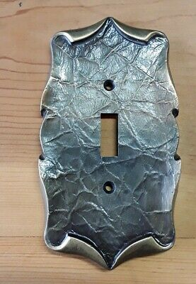Vtg Amerock Metal Single Switch Plate Cover Scroll Design