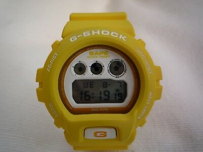 Casio G Shock DW-6900 BAPE, Yellow. Genuine BAPE G Shock.