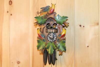 Multi Colored Black Forest 30 Hour Musical Cuckoo Clock ~ 1960's ~