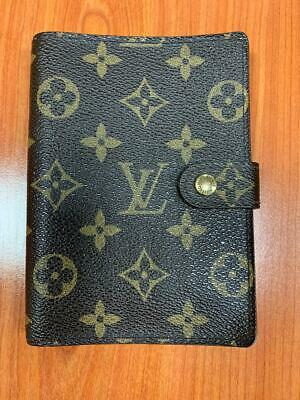 LOUIS VUITTON Agenda PM Monogram notebook cover leather brown R20005