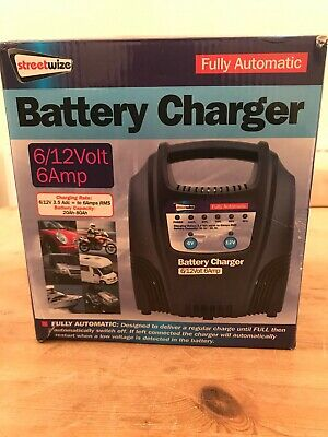 Streetwise 6V/12V 6A 20Ah to 80Ah Fully Automatic Battery Charger SWBCLED6