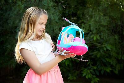 Barbie Helicopter Pink Blue Accessories Kid Gift Girl Play Doll Transport Toy
