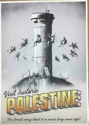 Banksy Walled Off Hotel Palestine Poster & Postcards Set With Receipt
