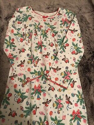 Rare Cath Kidston Christmas Nightie 5-6 Years Immaculate