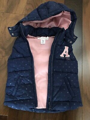 Girls navy padded body warmer from H&M aged 4-6 years