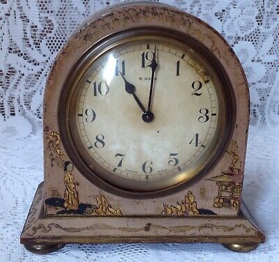Antique Japanned Bayard D-B. 8 Day Lever Movement French Clock