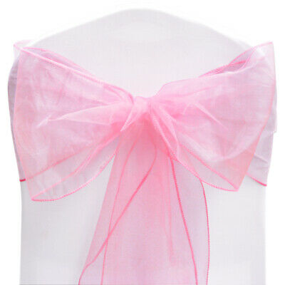 400 Pink Organza Sashes For Party, Wedding, Birthday, Occasion, Celebration!!