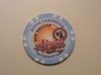 "Royal Caribbean Cruise Line RCI $1.00 Casino Chip Token ""ADVENTURE OF THE SEAS"""
