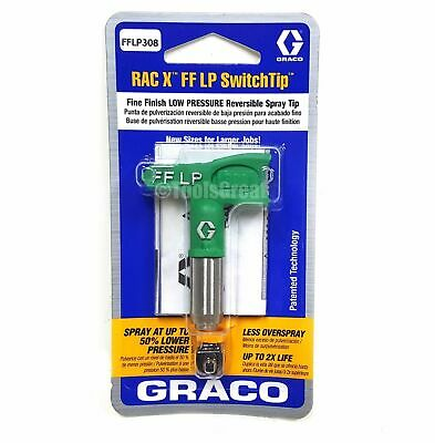 Graco Rac X FFLP 308 Fine Finish Paint Spray Tip Green Size 308, NEW