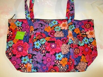 VERA BRADLEY Miller XL Large Tote Travel College Bag Floral Fiesta NEW TAGS