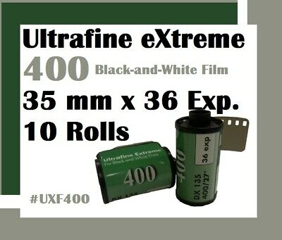 10 Rolls 35mm x 36 Exp Ultrafine Xtreme 400 Black & White Film 2024 Dating