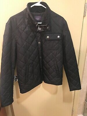 Men's Zara Quilted Black Jacket With Tailored 33 Sleeves Was $139.99