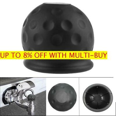 50mm Black New Rubber Tow Bar Ball Case Towball Protect Car Hitch Cover