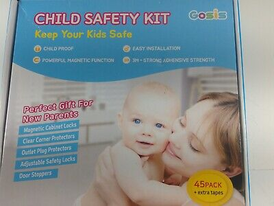Child Proofing 45 pack GOSIS CHILD SAFETY KIT, New Parents Gift
