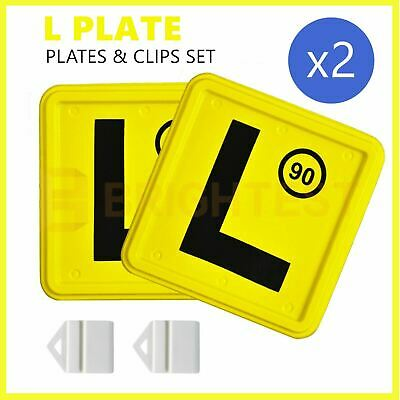 2 x Plastic L Plate Clips Holder Set Car Number License NSW Red Green P Speed