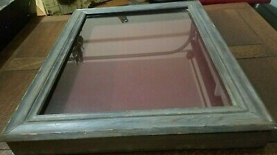 Vintage Jewelry Display Case With Glass Good Condition