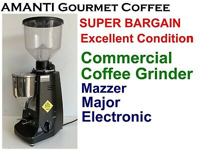 BARGAIN Mazzer Major Electronic  Commercial Coffee Grinder + Bonus AMANTI Coffee