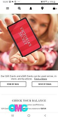 TWO Victoria's Secret Gift Cards TOTALING $128.28 + $20 OFF Reward