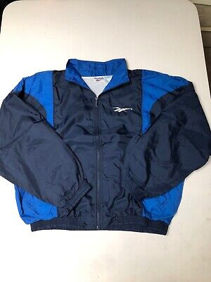 VINTAGE 90S REEBOK NAVY BLUE URBAN WINDBREAKER JACKET