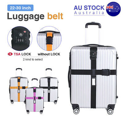 Travel Luggage Strap Baggage Suitcase Cross Belt Safe Password Secure Coded Lock